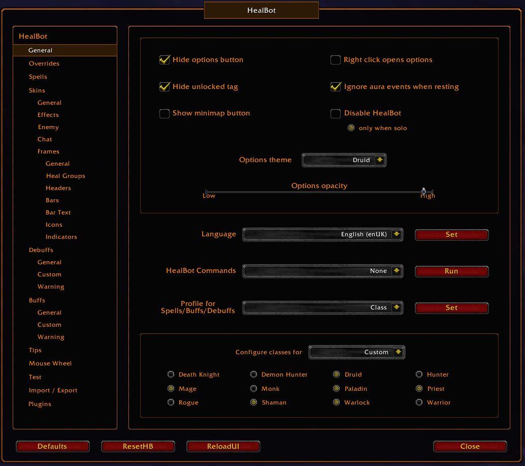 options:general [Healbot Help]